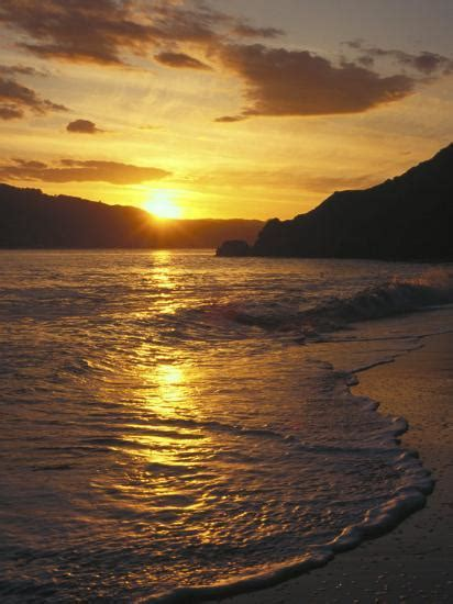 sunset  beach angel island ca photographic print