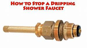 How to stop a dripping shower faucet repair leaky bat for How to replace a washer in a bathroom faucet