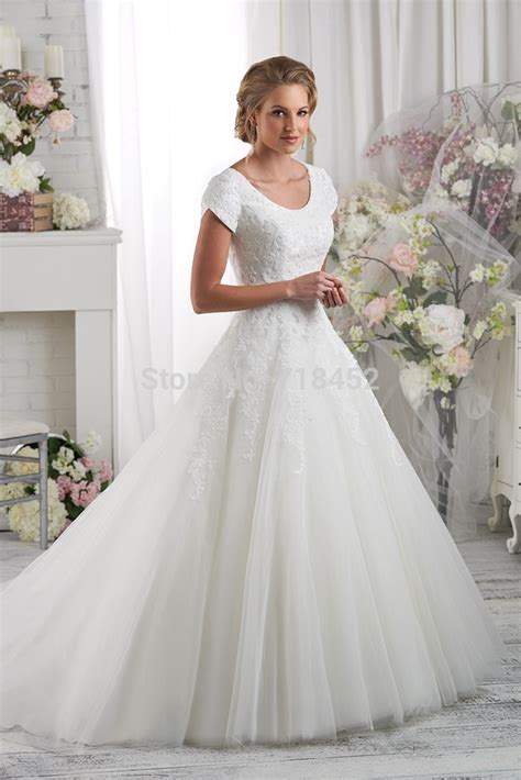 sleeve modest wedding dresses modest high neck lace bodice wedding dress sleeve 2015 bridal gowns organza high back jpg
