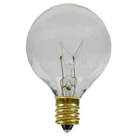 clear candelabra base replacement light bulbs 25 pack