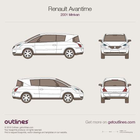 2007 renault megane ii sedan blueprints free outlines