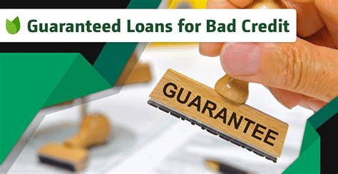Banks can only give you guaranteed approval if you give them 100% guarantee. Bad credit personal loans guaranteed approval no credit check - ALQURUMRESORT.COM