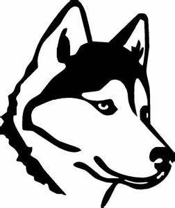 Husky Outline vinyl decal/sticker cute animal Dog Family