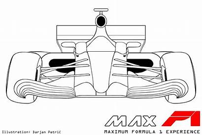 Drawing Formula F1 Cars Drawings Technical Changes