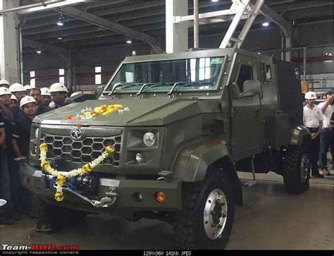Tata's New Defence Vehicle Spied Uncamouflaged