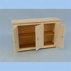 Meuble Bas 3 Portes : meuble bas miniature en kit pour poup e mannequin ex barbies ~ Teatrodelosmanantiales.com Idées de Décoration