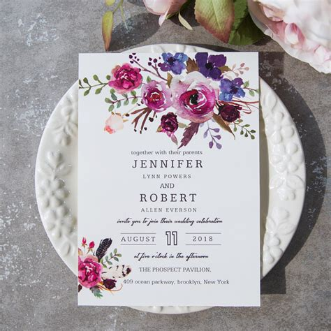 purple rustic wedding invitations www pixshark