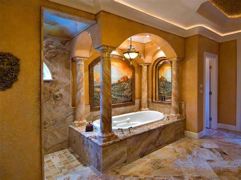 Luxury Mediterranean Style Bathroom Design Orchidlagooncom