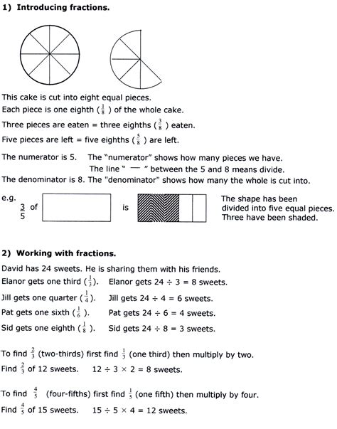 Year 7 Maths Worksheets Printable  Fractions Worksheets Printable For Teachersyear 3 Maths Age
