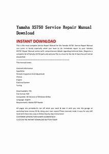 Yamaha Xs750 Service Repair Manual Download