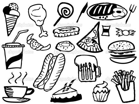 cuisine color unhealthy food coloring coloring pages