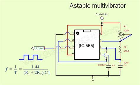 Astable Multi Vibrator Circuit