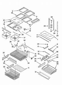 Shelf Parts Diagram  U0026 Parts List For Model 59678579801
