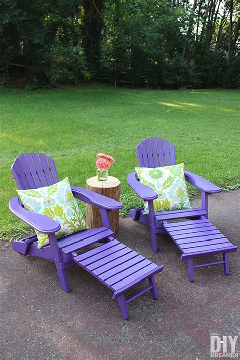 adirondack chairs for colorful outdoor furniture