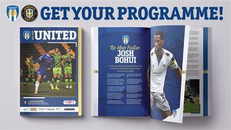 Get Your Harrogate Programme - News - Colchester United
