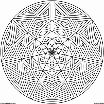 Coloring Pages Cool Geometric Designs Mandala Sheets