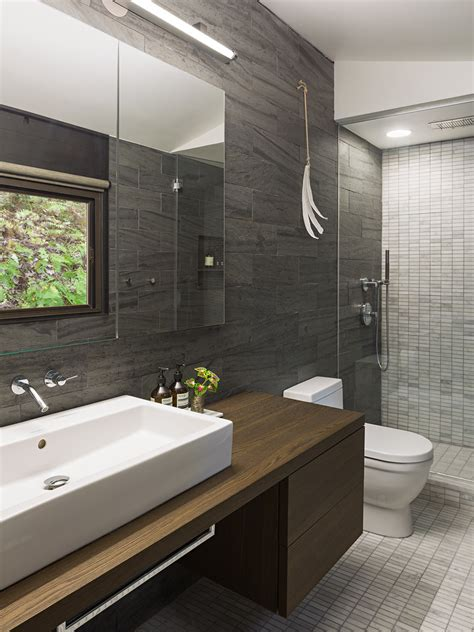 Unlacquered Brass Faucet Bathroom by Amazing Slate Ceramic Tile With Floating Vanity Alongside