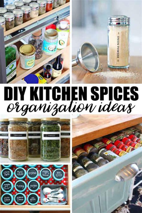 creative diy kitchen spices organization ideas simply