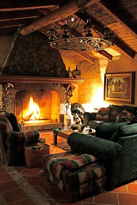 38 Rustic Country Cabins With A Stone Fireplace For A
