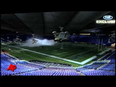 raw video snow  metrodome roof collapse youtube