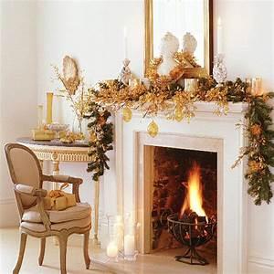 Christmas ideas christmas fireplace decoration xmas for Holiday fireplace mantel decorating ideas