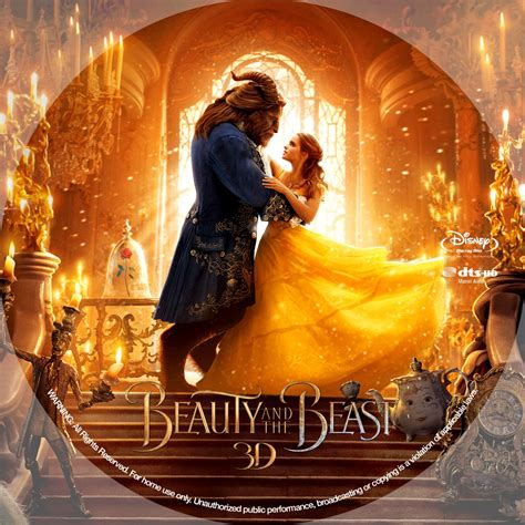 beauty   beast  bluray label cover addict