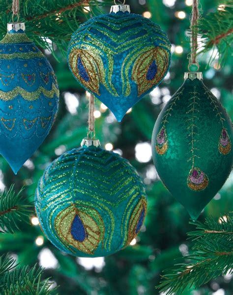 peacock feather ornaments homedecorators com peacock