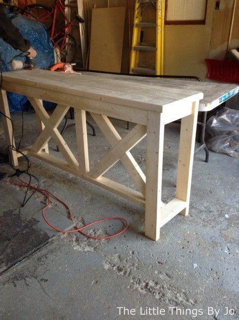 diy rustic console table  diy rustic