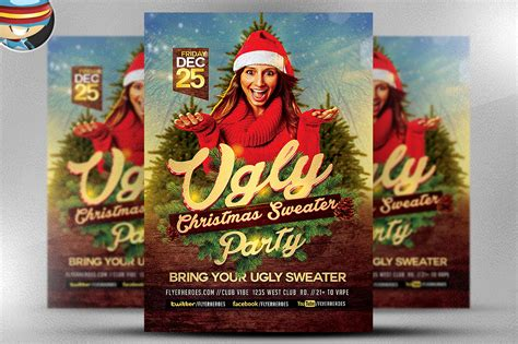 ugly sweater christmas flyer flyer templates on creative