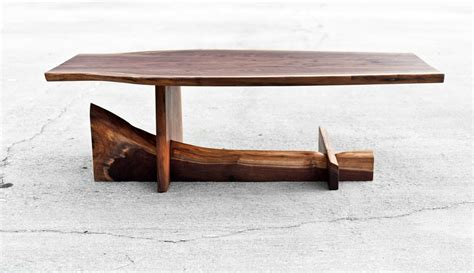 live wood coffee table walnut cantilever table live edge coffee by brandmojointeriors
