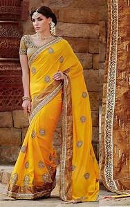 Yellow Tussar Silk Wedding Saree