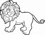 Lion Coloring Male Cartoon Printable sketch template