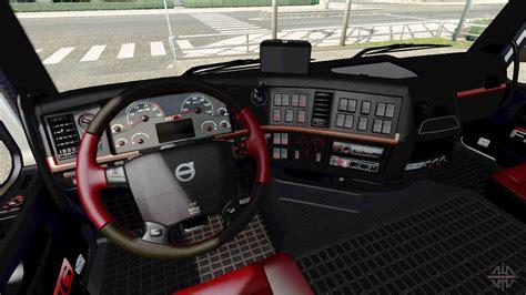 black  red interior volvo  euro truck simulator