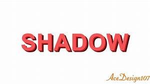 Text Tutorial | Text Shadow effect | Photoshop CC - YouTube