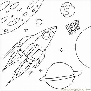 Coloring Pages Space Ship (Education > Shapes) - free ...