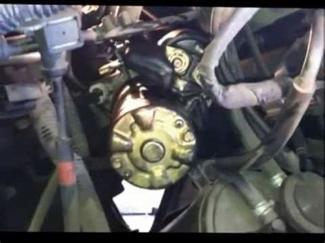 95 NISSAN SENTRA STARTER REPLACEMENT - YouTube