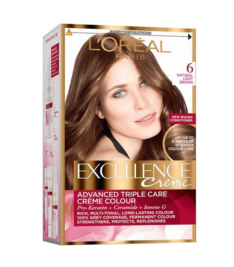 loreal excellence creme hair colour  natural light brown