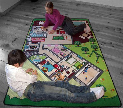 jeu de chambre tapitom tapis de jeu plan de la maison 130 x 200 cm