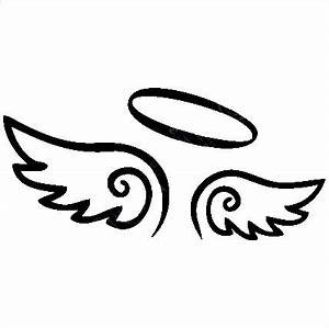 Angel Wings Decal with Halo - Custom Wall Graphics