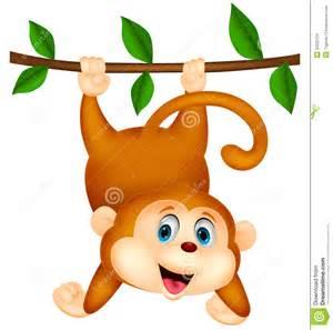 Cute Cartoon Monkeys Hanging
