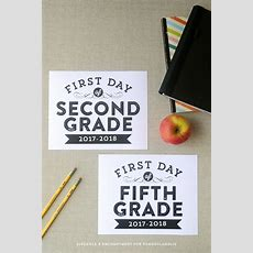 Remodelaholic  Printable First Day Of School Signs (updated For 20172018