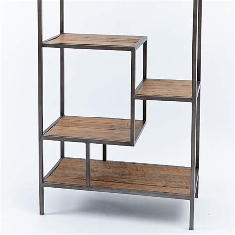 Iron Bookcases by Reclaimed Pine Iron Bookcase West Elm