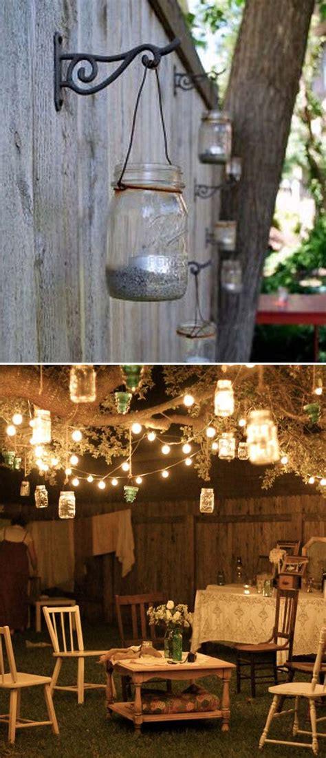 backyard hanging light ideas 15 diy backyard and patio lighting projects amazing diy