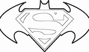 Batman Vs Superman Logo Coloring Pages Colouring For Good ...