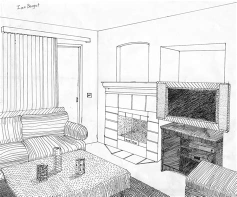 How To Draw A Simple Living Room