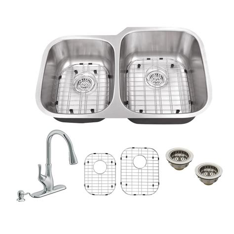 sink kitchen plumbing all in one undermount stainless steel 32 in 40 60 6932