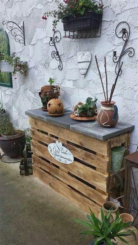 Gartenregal Aus Paletten  Garten  Pinterest Gärten