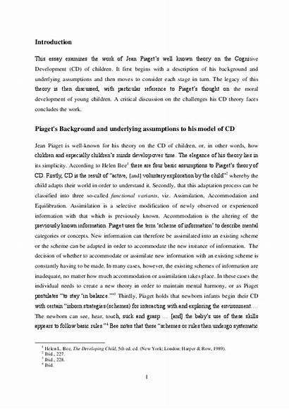 Piaget Theory Development Pdf Human Examination Academia