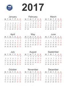 Printable 2016 2017 Calendar