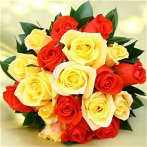 Buy Royal Bridesmaid Rose Bouquets with Yellow and Orange ...